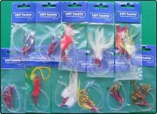 10 Packs Mackerel Lures Feathers Mackeral Sea Fishing Rigs Lure
