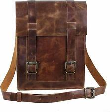 Vintage Genuine Buffalo Leather Messenger Case Bag For 11 Inch Apple iPad/Tablet