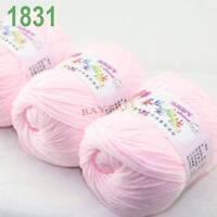 SALE 3 balls x50gr Cashmere Silk velvet Hand Knitting baby Yarn Baby pink 1831