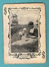 Single Swap Playing Card JOKER #P93 HOLLAND 1903 MOM KIDS WINDMILL WIDE  ANTIQUE