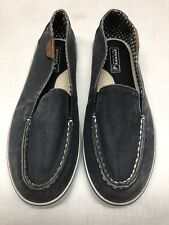 Sperry Top-Sider Women's Slip On's Gray Canvas Flats Arch Support Size 6M