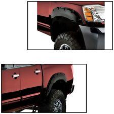 For 2004-2014 Nissan Titan Bedside Lockbox Black Front and Rear Fender Flares