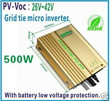 inverter mppt PV-Voc input 26-42v  24V Battery AC190-260V For Grid Tie Inverter