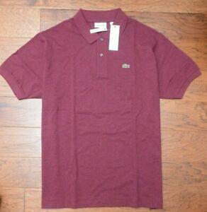 Lacoste PH221B Men's Bordeaux Mesh Cotton Polo Shirt Big & Tall 1XLB EU 8R