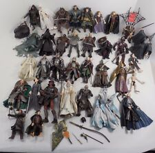 "HUGE LOT OF 34 DIFFERENT TOYBIZ LORD OF THE RINGS 7"" ACTION FIGURES LOTR GIMLI"