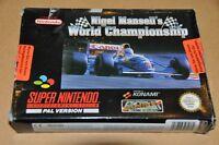 Super Nintendo SNES Spiel Modul- Nigel Mansell's World Championship -Deutsch OVP