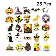25pcs Mixed Patterns Halloween Theme Stickers Kids Stickers Cartoon Stickers