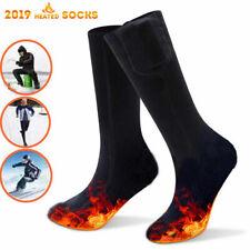 Battery Heated Electric Heating Long Socks Winter Feet Warmer Thermal Sock
