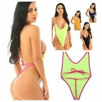 Women One-Piece Micro Thong Swimsuit Beachwear Swimwear Monokini Bikini Bathing