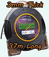 NYLSAW 3mm x 37m Length SPIKY Line SERRATED SHARP STRIMMER TRIMMER WIRE CORD