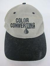 Color Converting Industries Hat Grey Black Strapbak Cap One Size Luna Pier