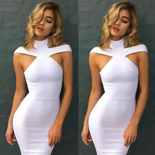Summer Women's Bandage Bodycon Sleeveless Evening Sexy Party Cocktail Mini Dress