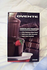 New Ovente Chocolate Fountain - 9 inch Red - Perfect For Wedding & Grad Parties