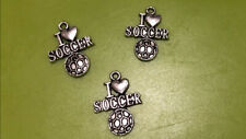 I �� Soccer Tibetan Silver Charms Lot Of 2 New!