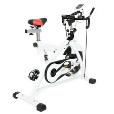 Indoor Fitness Bicycle Stationary with Bike Cycling Training&White Keep Fit