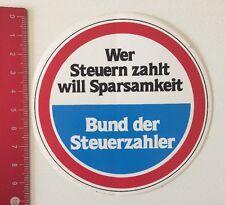 Aufkleber/Sticker: Bund Der Steuerzahler - Sparsamkeit (22051679)