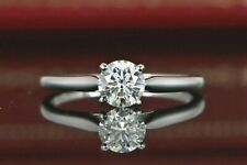 9,800 Cartier GIA 0.61ct E VS1 Round Diamond Solitaire Platinum Engagement Ring