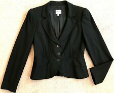 ARMANI COLLEZIONI BLACK VIRGIN WOOL FITTED BLAZER NWOT! $760 8