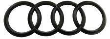Audi anillos negro mate emblema atrás q2 q3 a5 a6 a8 s8 r8 TT-RS Quattro s-LINE