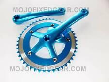 Fixed gear Single Speed Track Cranks Crankset 165mm 46t BLUE