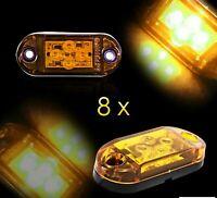 8 x 24V Feux De Gabarit SMD 4 LED Orange Pour Camion Jeep 4x4 ATV Bus Van