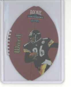 Hines Ward rookie card /55 1998 Playoff Contenders leather gold RC NM Steelers