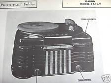GAROD 5AP1-Y PHONOGRAPH - RADIO COMBO PHOTOFACT