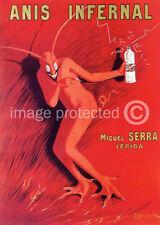 Anis Infernal Cappiello Vintage Liqour Ad Poster -24x36