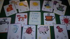 Fonética-CVC - 24 Tarjetas + vocales - 3 Letra Palabras-recurso de enseñanza-KS1