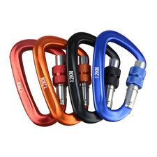 12KN Climbing Carabiner D Shape Quickdraws Climbing Buckle Locks Safety L HN