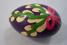 Colorful Hand Painted Wooden Egg-Floral-About 1 1/2 x 2 1/2""