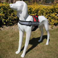 Reflective Safe Service Dog Harness Training THERAPY Non Pull On Lead Vest