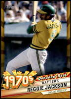 Reggie Jackson 2020 Topps Decade's Best Series 2 5x7 Gold #DB-46 /10 Athletics
