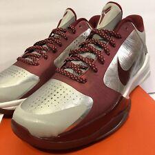 half off 175fa 00714 Nike Zoom Kobe V 5 386429-005 Aces inferior Merion HS NUEVO DS Talla 9 R  Blanco Plateado Original