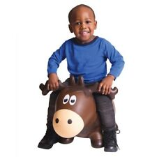 Inflatable Moose Bouncer Kids Brown Jumping Animal Toy Ride On Waddle 2 And Up