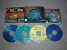 The Omega Stone: Riddle Of The Sphinx II 2 PC 4 CD-ROMs Omni Dreamcatcher 2003