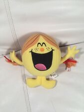 "Little Miss Sunshine Plush Stuffed Toy Mr Men Show Nanco Yellow 2008 7"""