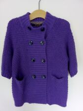 Ladies Size 16 River Island Purple Jumper Jacket Cardi Soft Thick Knit Funky