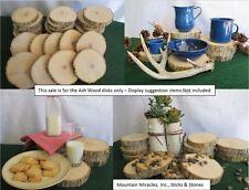 "10x Ash Wood Tree Slice Round Disk Wedding Centerpiece 5-6"" x 1"" Rustic Decor"