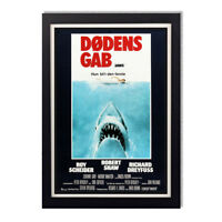 Jaws Steven Spielberg Danish Movie Poster Reproduction Poster 11x17in 24x36in