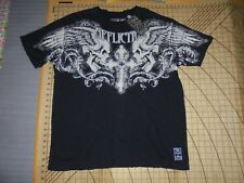 MENS AFFLICTION 2XLARGE BLACK/CREAM SS STRESSED SHIRT - NWT