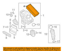 AUDI OEM 09-13 A4 Quattro Engine-Air Cleaner Filter Element 8R0133843K
