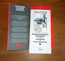 Hergé No tintin Brochure fac-similé de 1935 publicité pour SNCB tirages 2010 ex