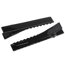 Lot 5 Noir Barrettes Pinces à cheveux à décorer 46mm x 7mm pince Crocodile