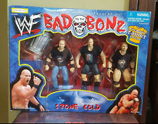 Stone Cold Steve Austin Action Figures (Set of 3) WWF Bad to the Bonz NIB 6.5 in