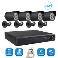New AHD Camera 720P 4CH DVR  Home Security System IP CCTV Outdoor Kits IR Cam