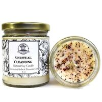 Spiritual Cleansing & Meditation Soy Candle Intuition Wisdom Clarity Pagan Wicca