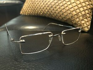 Silhouette Eyeglasses M7460 6051 Gold/bronze/silver Square Rimless Frame Austria