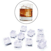 10PCS/Pack Fake Artificial Acrylic Ice Cubes Crystal Clear 2/2.5/3cm Squ HO
