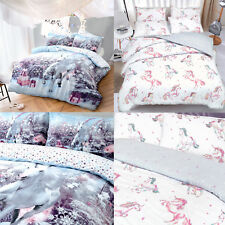 Complete Bedding Sets King Sizes Duvet Cover Double Single Unicorn Animal Print